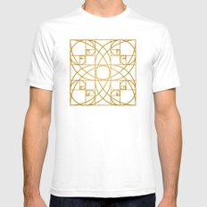 Golden Flower Mens Fitted Tee SMALL White