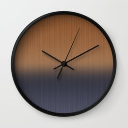 Ombre Blue and Rust Herringbone Pattern Wall Clock