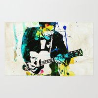 chuck Area & Throw Rugs featuring chuck berry by manish mansinh
