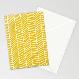 Herringbone – Yellow Palette Stationery Cards