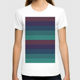 Wummer pastel colours geometric horizontal lines pattern for home decoration T-shirt
