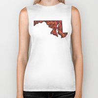 maryland Biker Tanks featuring Maryland Paisley Illustration by Adrienne S. Price
