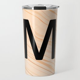 Scrabble Letter M - Large Scrabble Tiles Travel Mug