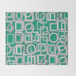 picture frames aplenty green Throw Blanket