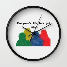 Everyone's life has got static Wall Clock
