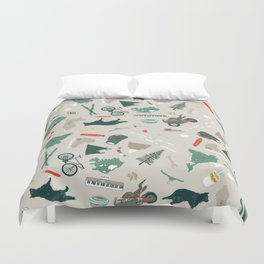 Outdoorsy and crafty Duvet Cover