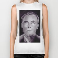 carl sagan Biker Tanks featuring Carl Panzram by Buffy Ino Kua