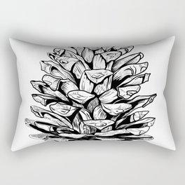 Pine cone illustration Rectangular Pillow