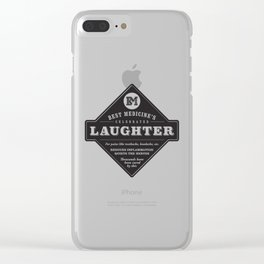 Laughter is the Best Medicine Clear iPhone Case