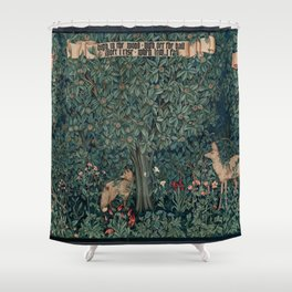William Morris Greenery Tapestry Shower Curtain