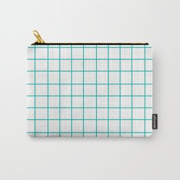 Grid (Eggshell Blue/White) Carry-All Pouch