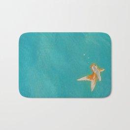 Goldfish in the ocean Bath Mat