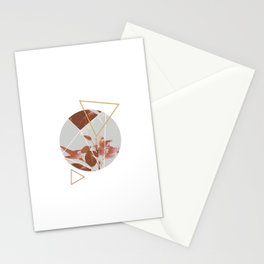 Pastels Geometric Abstract Stationery Cards