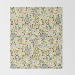 Cute Rabbit Pattern Throw Blanket
