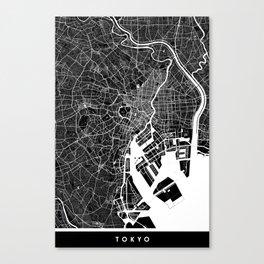 Tokyo - Minimalist City Map Canvas Print