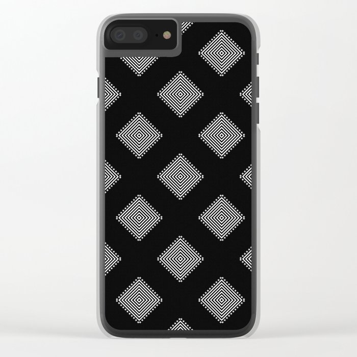 Optical Triangles Clear iPhone Case