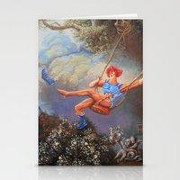 thundercats Stationery Cards featuring Thunder Swing by Hillary White