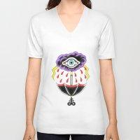 evil eye V-neck T-shirts featuring Evil Eye.  by Alyssa Hall