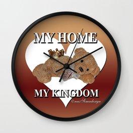 My home, My Kingdom - Creme Wall Clock