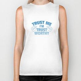 Trust Me I'm Trustworthy Biker Tank