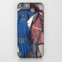 Hellelil and Hildebrand, the meeting on the turret stairs by Frederic William Burton iPhone Case