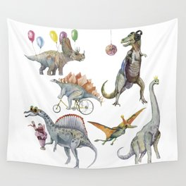 PARTY OF DINOSAURS Wall Tapestry