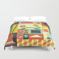 charlie brown Duvet Covers featuring Charlie by Ariel Wilson