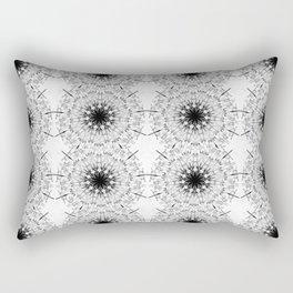 Black Ice Star Mandala Rectangular Pillow