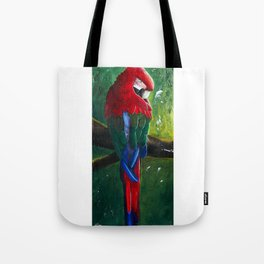 "Aras parrot - ""A morning like the others"" - by LiliFlore Tote Bag"