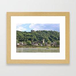 Burg Osterspai am Rhein Framed Art Print