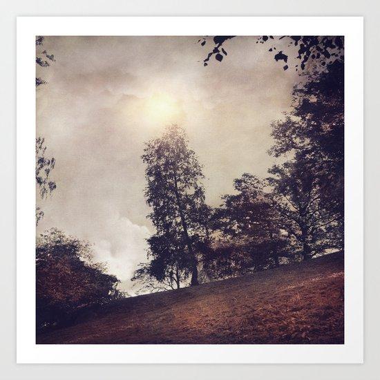 Sun & Trees Art Print