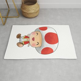 Red mushroom Plumber's collection Rug