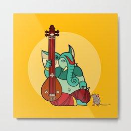 Ganesha Tampura Metal Print