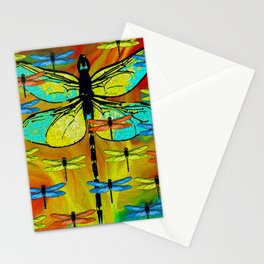 DRAGONFLY FORMATION Stationery Cards
