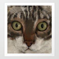 Cat Closer Art Print