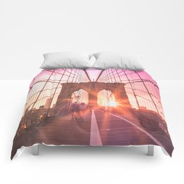 NYC Brooklyn Bridge Comforters
