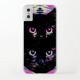 Black Cat Rising Clear iPhone Case
