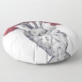 Heart cactus Floor Pillow