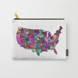 USA map art 3 #usa #map Carry-All Pouch