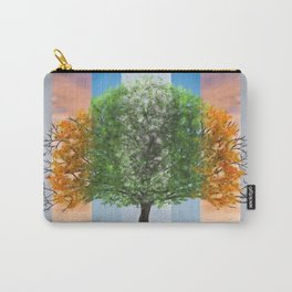 Digital painting of the seasons of the year in a tree Carry-All Pouch