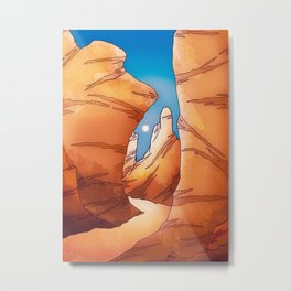 The sand canyon Metal Print