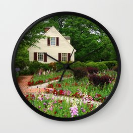 Cottage Garden - Colonial Williamsburg Wall Clock