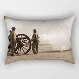 Civil War Era Cannon Firing Rectangular Pillow