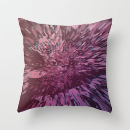 Glitch Explosion 80s Arcade Throw Pillow