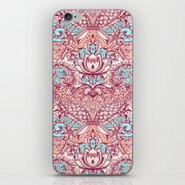 Natural Rhythm - a hand drawn pattern in peach, mint & aqua iPhone Skin