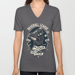 BASEBALL LEAGUE - Baseball World Championship Unisex V-Neck