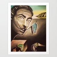salvador dali Art Prints featuring Salvador Dali by Kimberly Faye