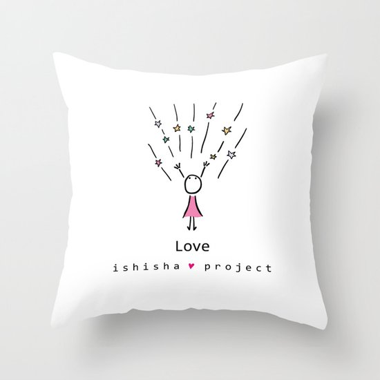 LOVE by ISHISHA PROJECT Throw Pillow
