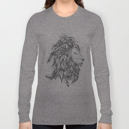 Poetic Lion B&W Long Sleeve T-shirt