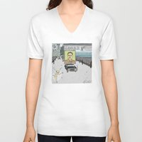 "korea V-neck T-shirts featuring ""Magic Kingdom"" (North Korea) by correia creative"